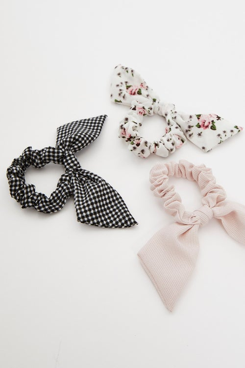 3 Piece Mixed Bow Scrunchies set