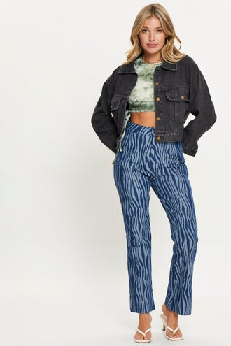 Abstract Denim Jeans