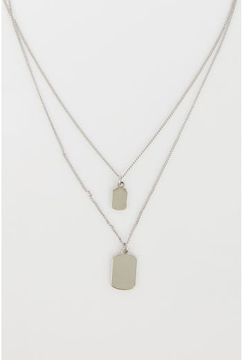 NYLA-ROSE LAYERED TAG NECKLACE