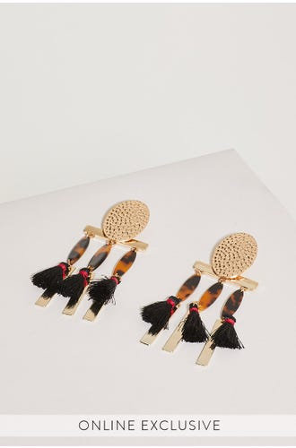 RAVEN CLIP ON EARRINGS
