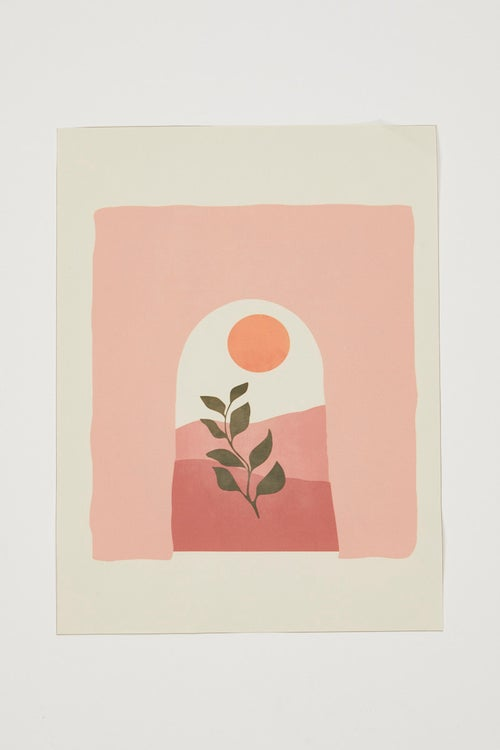 Archway and Plant A3 Poster Print
