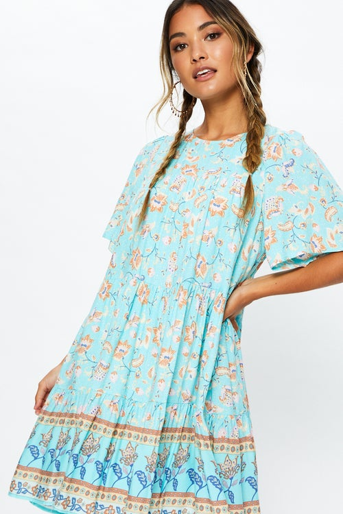 Bell Sleeve Boho Swing Dress