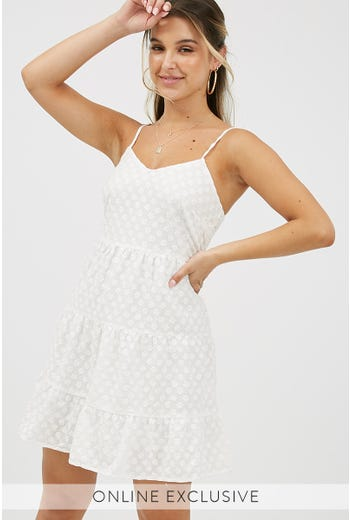 BILLIE EYELET DRESS