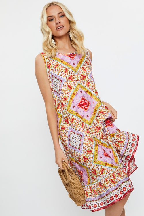Boho Hi Lo Swing Dress