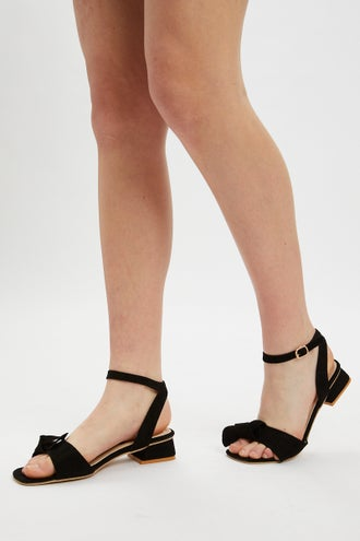 Bow Ankle Strap Flats