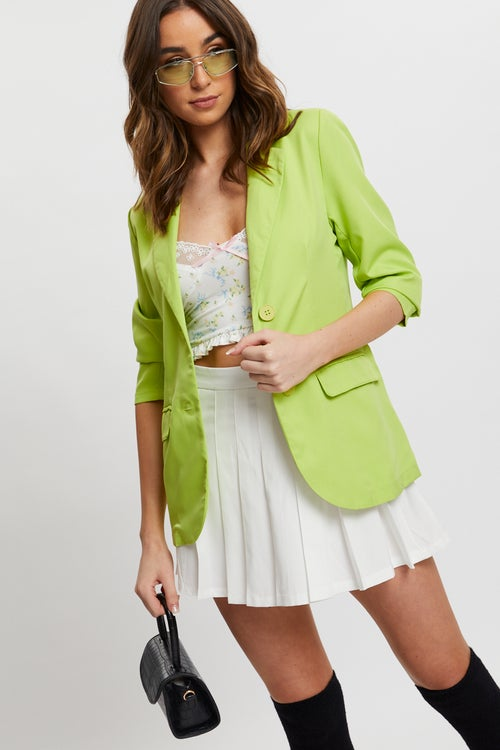 Boyfriend Button Front Blazer