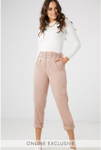 MOTO BELTED CARGO PANT