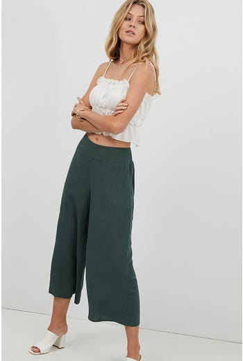 SHIRRED BACK CULOTTE