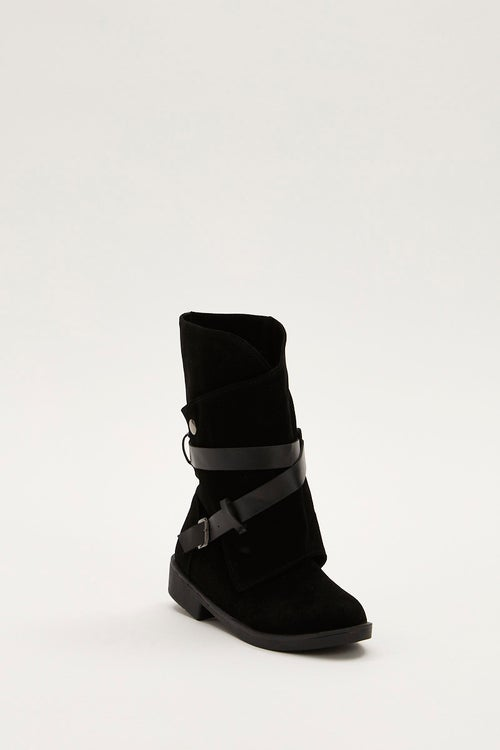 Buckle Detail Slouch Boots