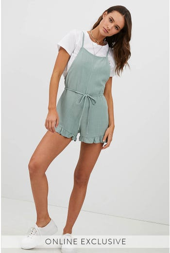 CABO LINEN PLAYSUIT