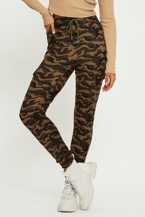 Camouflage Out Pocket Cargo Jogger