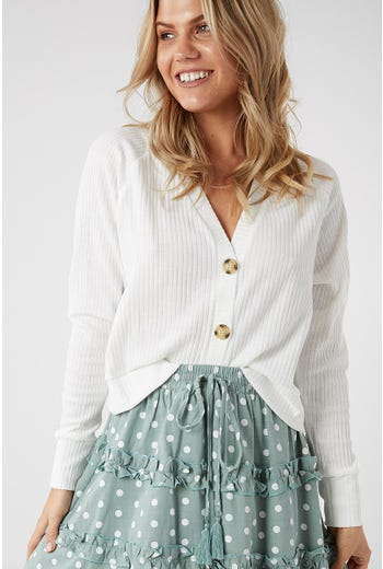 SLOUCH BUTTON CARDI