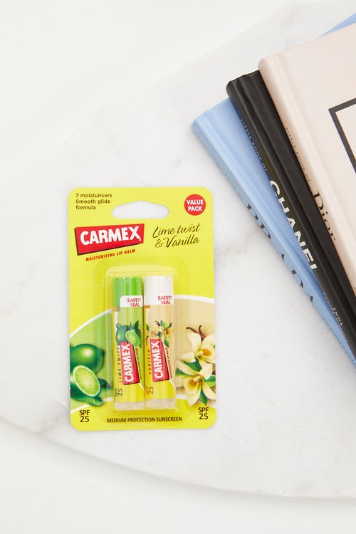 Carmex Lime And Vanilla Twin Pack With SPF