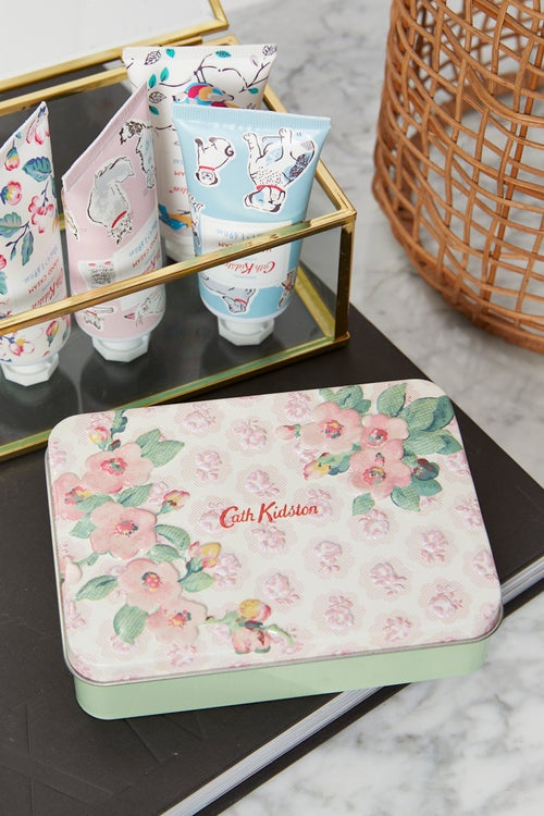 Cath Kidston Tin with Hand Cream and Lip Balm