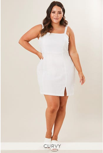 JAELYN SQUARE NECK DRESS