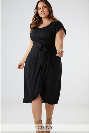 ANITA JERSEY WRAP DRESS