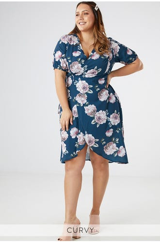 KATIE WRAP MIDI DRESS