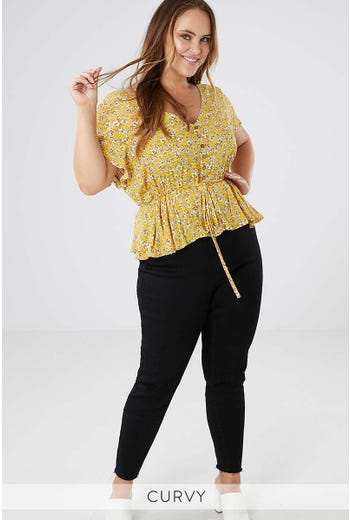 HONEY BEE PEPLUM TOP