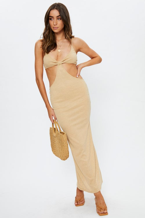 Cut-Out Bodycon Maxi Dress