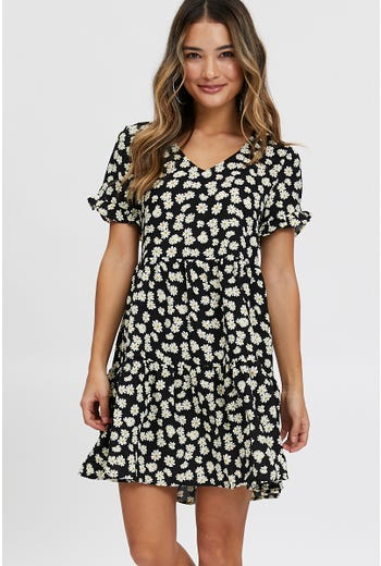 Daisy V Neck Swing Dress