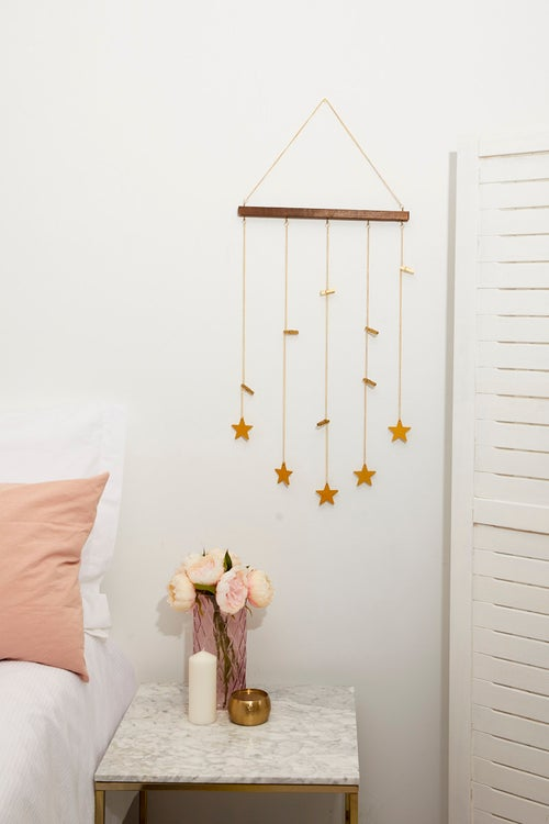 Dangling Stars Photo hanger With Mini Pegs
