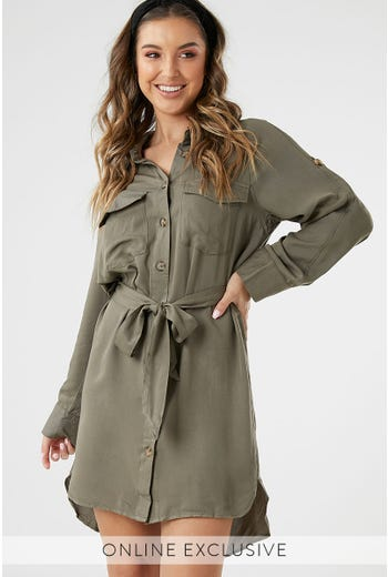 XENIA SHIRT DRESS