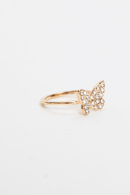 Diamonte Butterfly Ring