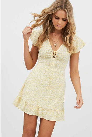 DITZY LACE UP DRESS