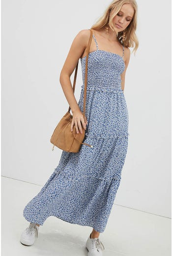 DITZY RUFFLE MAXI DRESS
