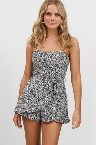 DITZY RUFFLE PLAYSUIT