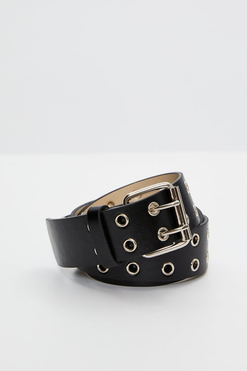 Double Row eyelet detail belt