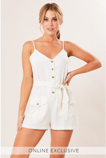 NOAH CARGO POCKET PLAYSUIT