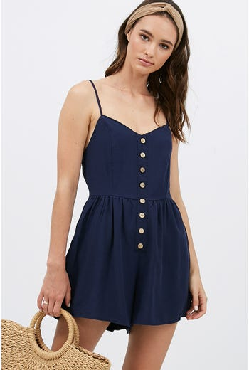 BUTTON FRONT PLAYSUIT