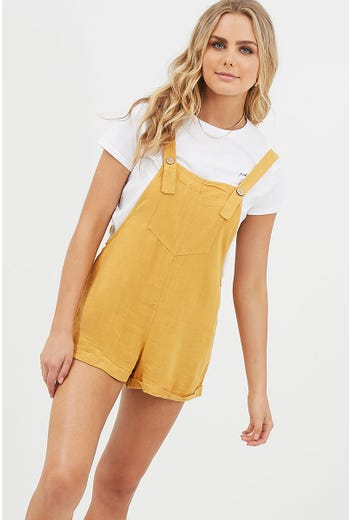 BUTTON FRONT DUNGAREE