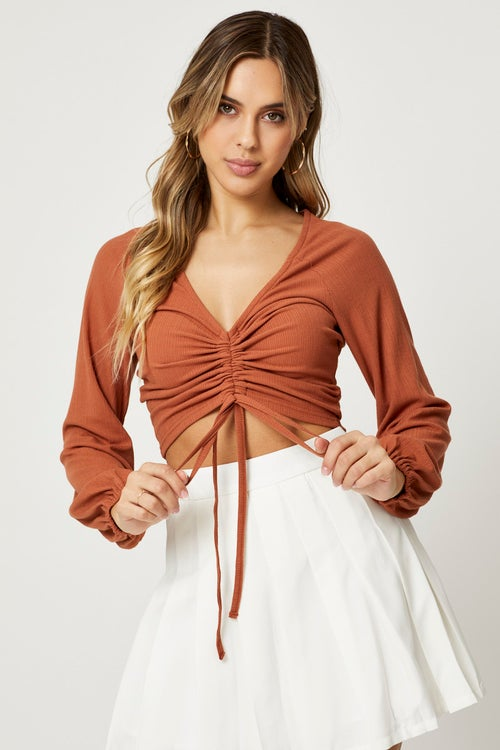 Drawstring Ruched Top