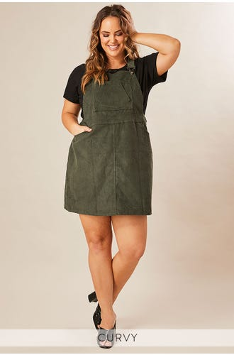 ON YOUR MIND CORD PINAFORE