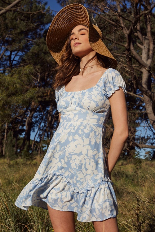 Eco Shadow Floral Dress