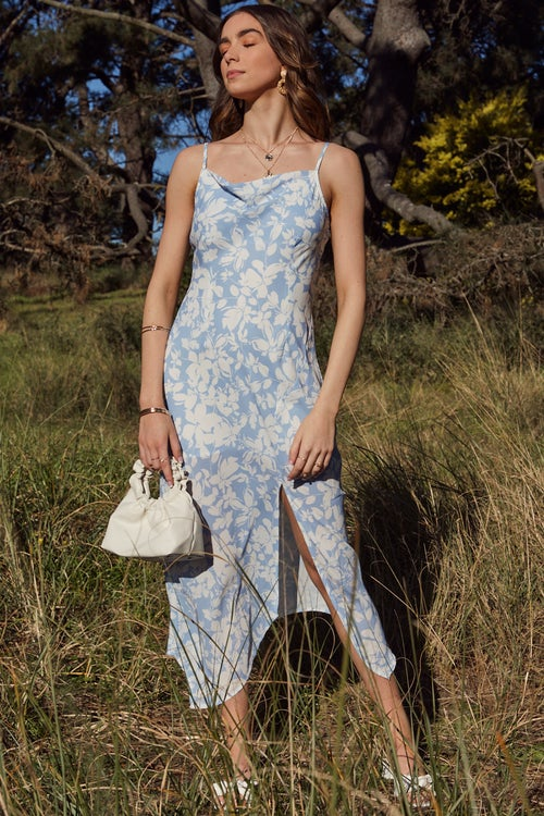 Eco Shadow Floral Midi Dress