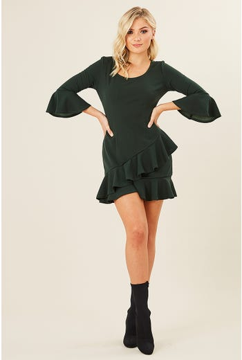 FRILL DETAIL MINI DRESS