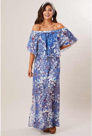 JEWEL PRINT MAXI DRESS