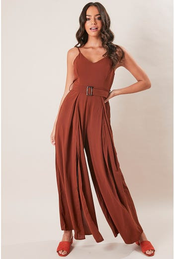 BELT DETAIL JUMPSUIT