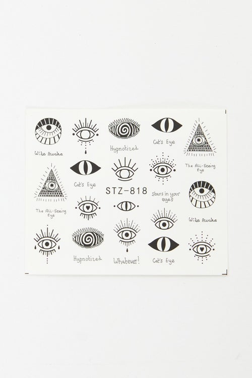 Eye Graphic Nails Stickers