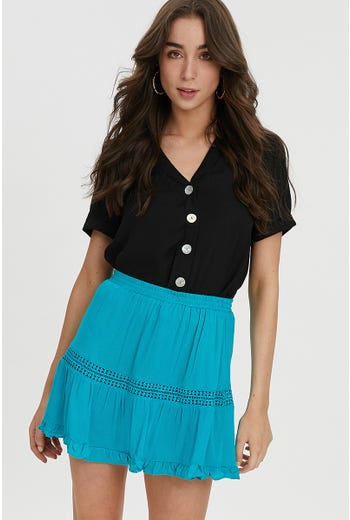 FRILL HEM MINI SKIRT