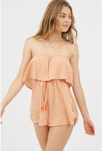 GEO BANDEAU PLAYSUIT
