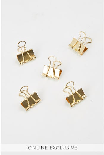 GOLD BULLDOG CLIPS 10 PACK