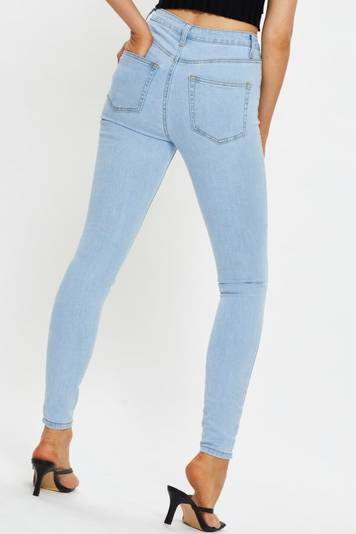 High Rise 5 Pocket Denim Jeans