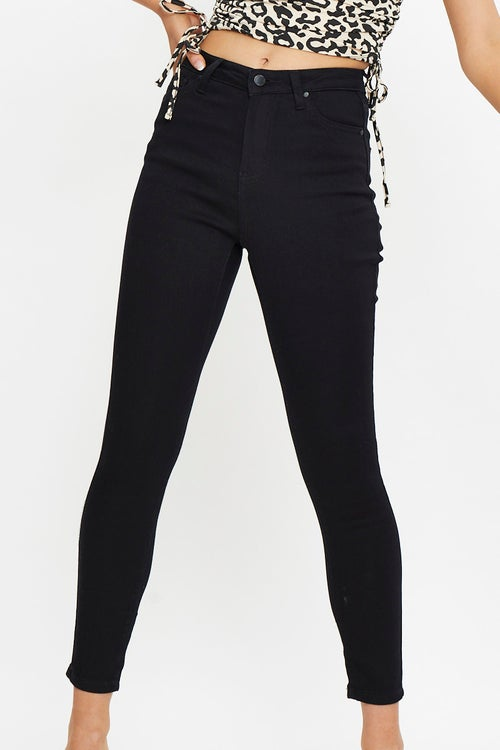 High Rise Ankle Grazer 5 Pockets Jeans
