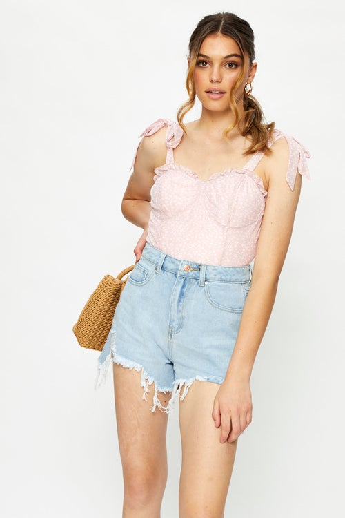 High Waist Relaxed Shorts
