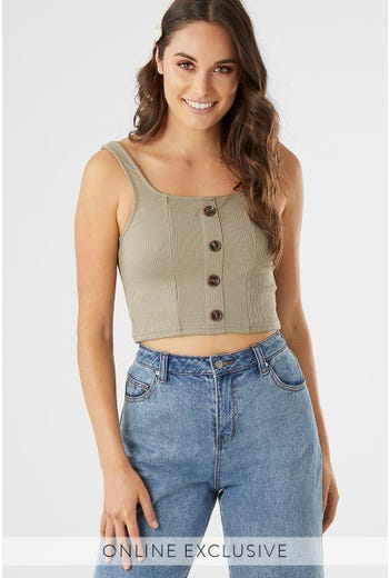 SINGLET BUTTON DOWN TOP
