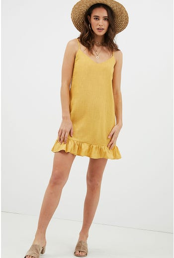 KEELY RUFFLE DRESS